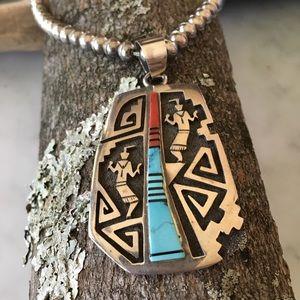Vintage Richard Begay Navajo Native Pendant